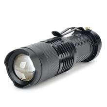 Boutique Hot Sale SIPIK SK68 Single Mode White Light XR-E Q5 LED Bulb Light Zoom Led Flashlight Pocket Mini Flashlight ultrafire lzz 06 50lm led 2 mode cool white mini flashlight light blue