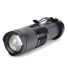цена на Zoom Electric Torch Single Mode White Light 800 Lumens Q5 LED Lamp Bead Zoom Flashlight LED 14500 Pocket Mini Flashlight