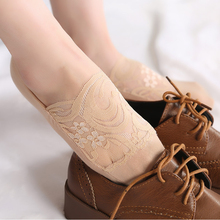 2 Pair Invisible Socks Women Slippers Lace Boat No Show Non Slip Silicone Woman Summer Meia Feminina Low Cut