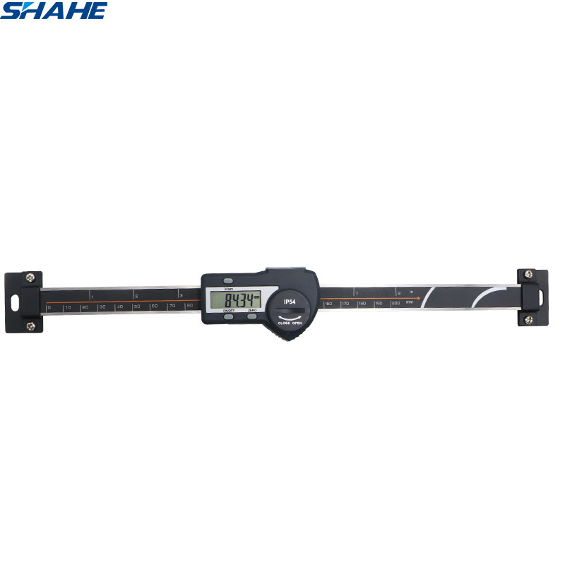 200 mm Digital Scale Horizontal Linear LCD Display Inch Metric Caliper Scale