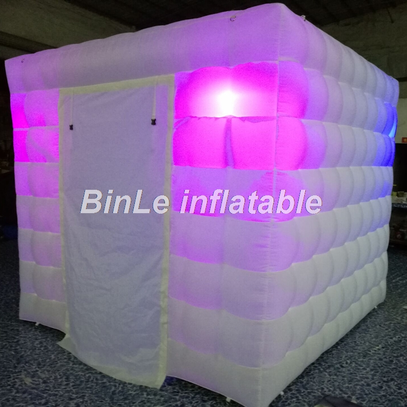 Cheap lighting portable mini led cube inflatable tent  inflatable photo booth tent price for wedding party events free shipping 2 5m led lighting inflatable photo booth with window led inflatable photo enclosure tent inflatable cube tent