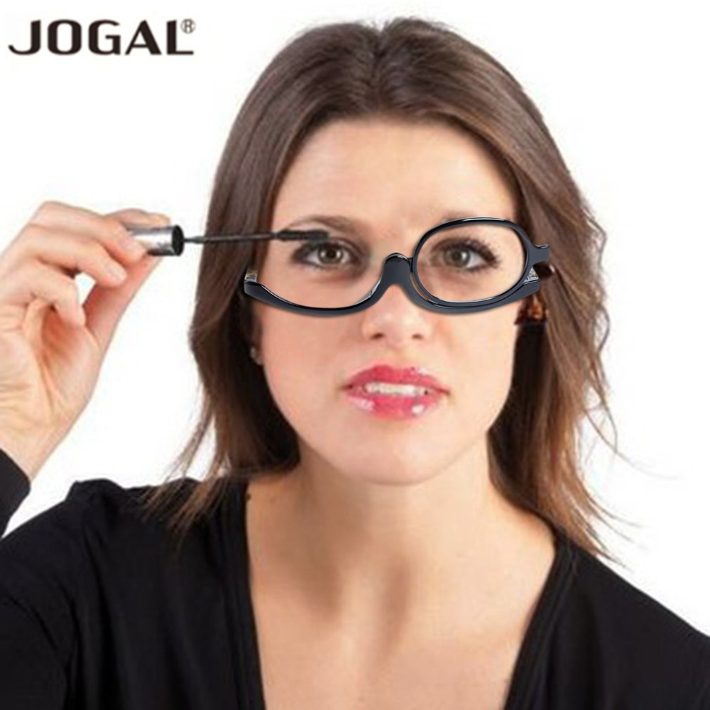 JAMONT 180 Degree Rotating Monocular Cosmetic Glasses Women Makeup Reading Glasses Rotatable Frame Diopter+1.5+3.0 Women Glasses
