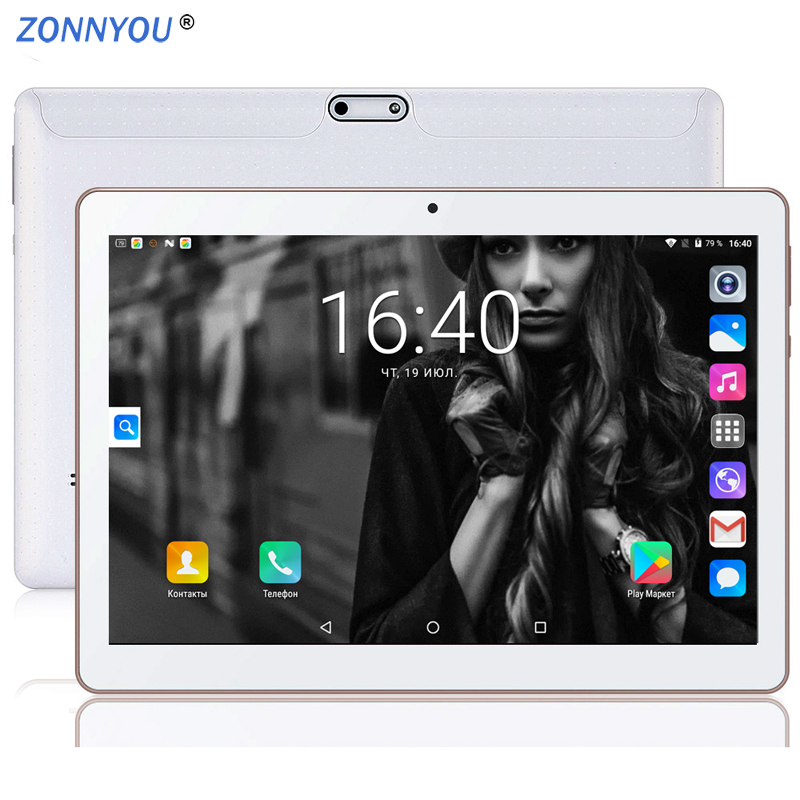 10.1 Inch Tablet PC Android 7.0 Google Play 3G Phone Call 4GB 64GB Octa Core Dual SIM GPS FM BT OTG Tablet PC From Moscow Ships