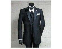 Mens Wedding Suits Groom Tuxedos Peak Lapel Groomsman Best Man Formal Suit 3 Pcs