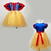Infant Baby Princess Snow White Dress Girl Toddler Dresses Children Kids Girls Costume Cosplay Roupas Fancy