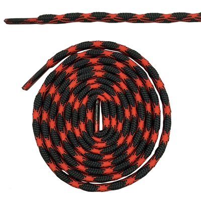 Нескользящие круглые шнурки для альпинизма разные цвета 120 см/47 дюймов - Цвет: Dark Gray and orange
