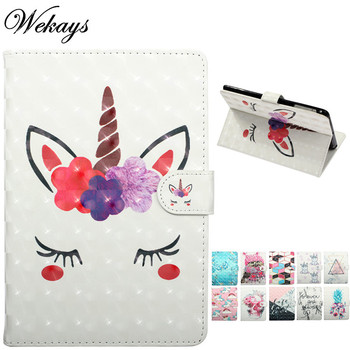 Wekays For Apple Ipad Air 2 Ipad 6 A1566 A1567 Cartoon Unicorn Leather Fundas Case For Ipad Air 2 Ipad6 Cover Case For Ipad Air2 for ipad6 leather case soft tpu back trifold smart cover shockproof protective case for ipad 6 air2 gift