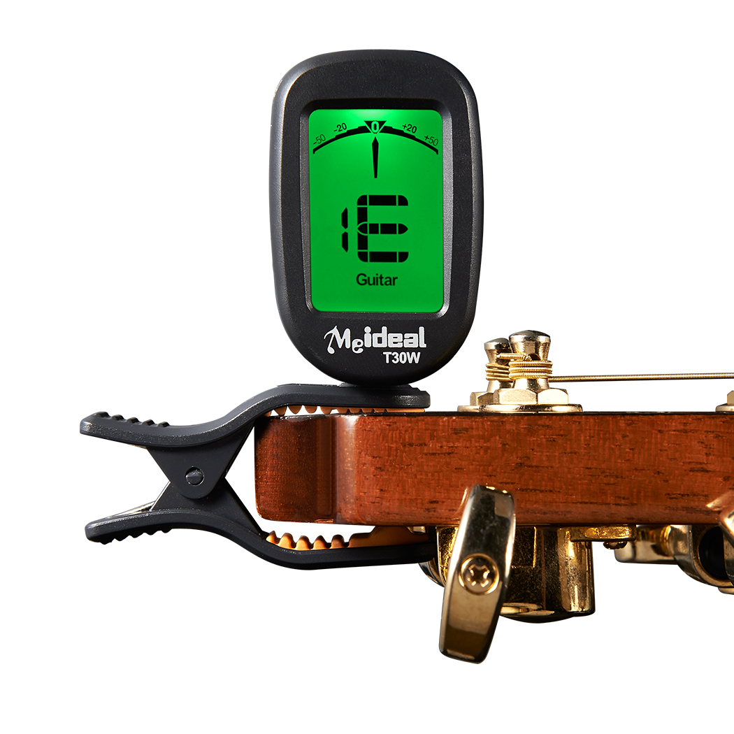 Chromatic Clip on Tuner Guitar Bass Violin Ukulele Banjo Big LCD High Accuracy Clip-on Tuner T30W lt 33 electronic piezo clip on chromatic tuner guitar bass ukulele violin chromatic tuner for musical instrument accessories