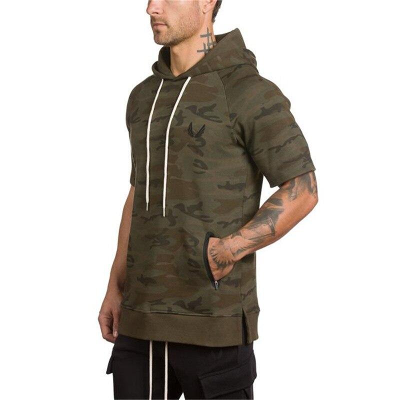 Camouflage Short Sleeve Hoodies