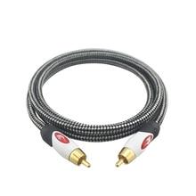 High premium rca a rca macho a macho estéreo de alta fidelidad Digital Coaxial de Audio Cable De Altavoz Subwoofer Amplificador de TV DVD Aux