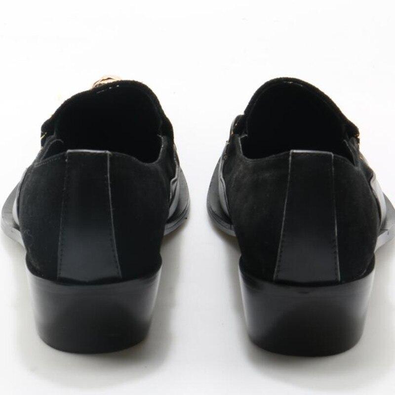 9c4ab4dd514 Boda Los Zapatos Planos as Picture Social Cuero Hombres Picture Oxford  Holgazanes Genuino Zobairou Para Oro Vestir ...