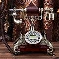 Marca DingYe teléfono de Moda antigua moda teléfono rústico teléfono fijo teléfono de la vendimia teléfono Retroiluminación Azul/Manos Libres/Identificador de llamadas