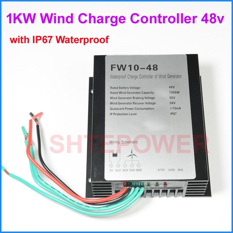 48V 1000W wind controller Battery charger waterproof IP67 1000W 48V/24V options Wind Turbines Generator цена