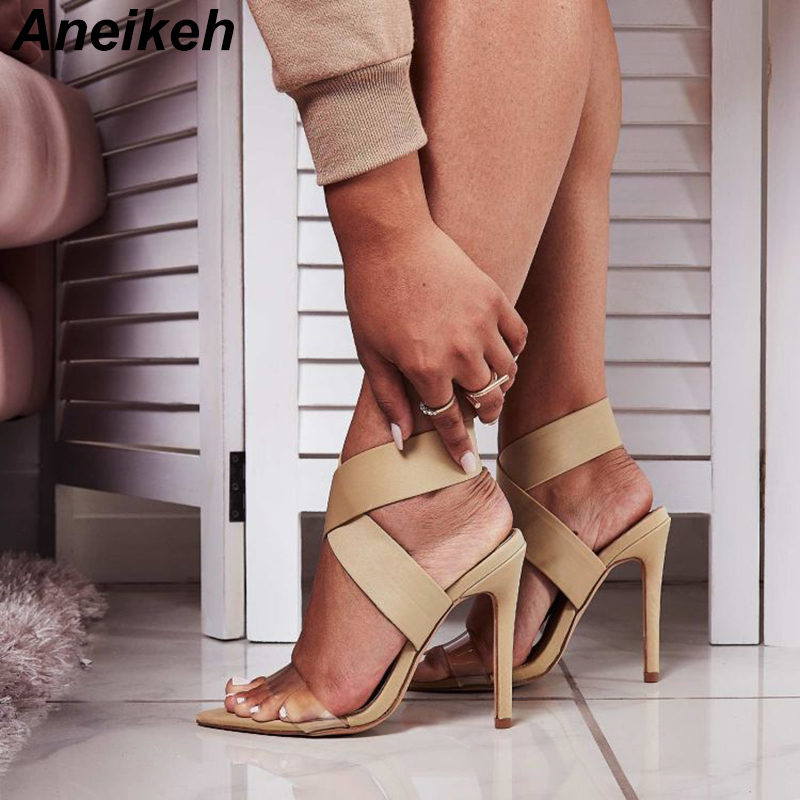 Aneikeh New Stretch Fabric Slip-On Sandal Shoes Fashion Pointed Toe Open Thin High Heels Sandals Gladiator Dress Pumps Shoes Aneikeh New Stretch Fabric Slip-On Sandal Shoes Fashion Pointed Toe Open Thin High Heels Sandals Gladiator Dress Pumps Shoes