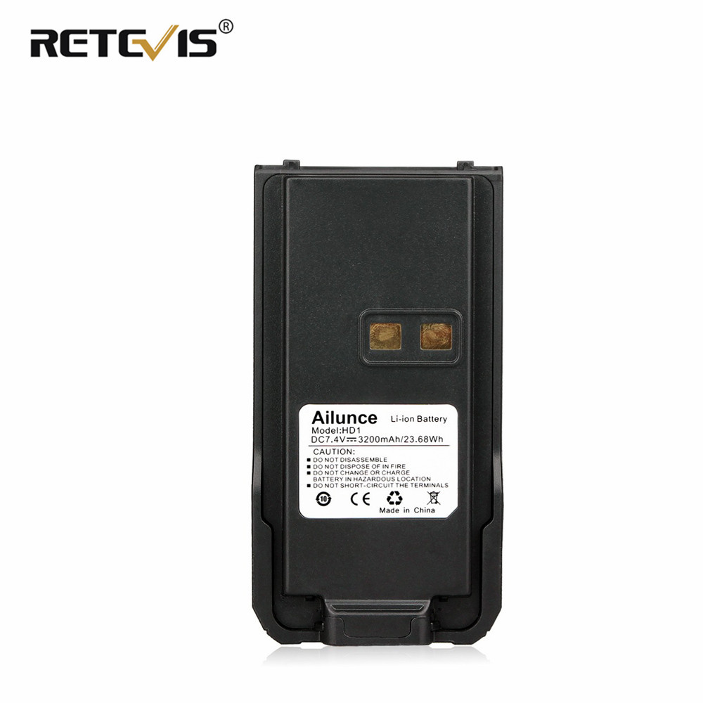 Original RETEVIS Ailunce HD1/RETEVIS RT29 3200mAh Li-ion Battery Pack For Ailunce HD1/RETEVIS RT29 Walkie Talkie Battery J9131B