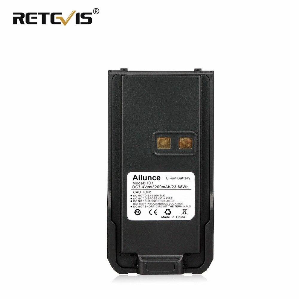 Original RETEVIS Ailunce HD1/RETEVIS RT29 3200mAh Li-ion Battery Pack For Ailunce HD1/RETEVIS RT29 Walkie Talkie Battery J9131B