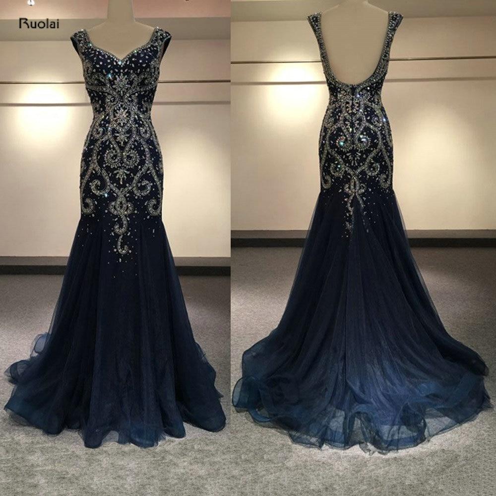 vestido de noiva Luxury Evening Dress Long 2017 Heavy Beaded Mermaid ...