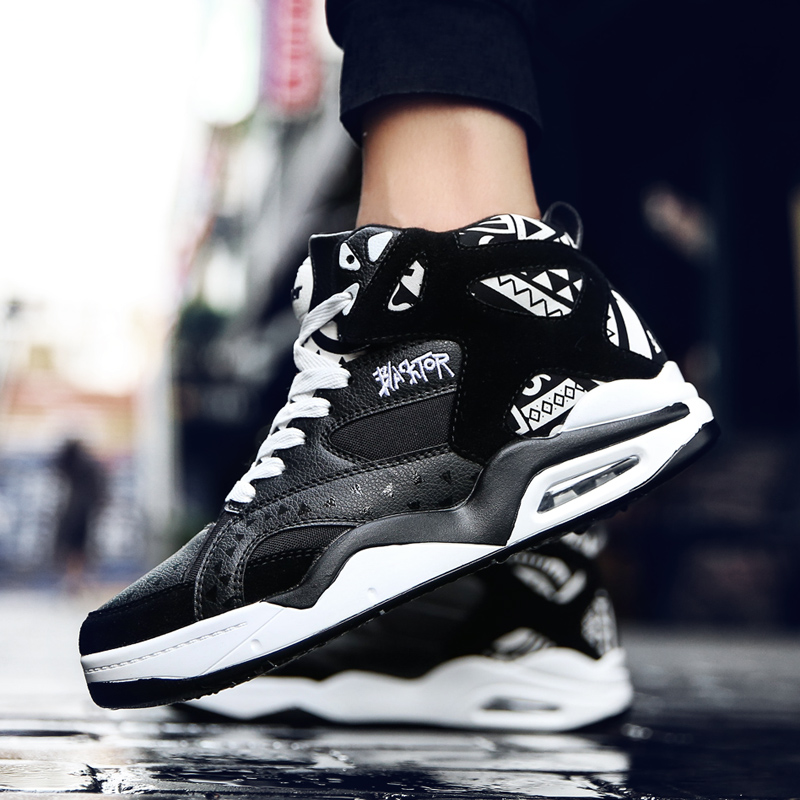 Image 4 - Fashion Casual Shoes Mens Breathable Trainers High Top Air Cushion Tenis Male Sneakers Adult Krasovki Size 46 Chaussures HommeMens Casual Shoes   -