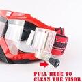 Marca Óculos de Proteção Equitação Óculos de Esqui Motocross Fox Bicicleta Da Sujeira ATV Cruz Do Motor para a Motocicleta UV Ski Snowboard Óculos de Lente Clara