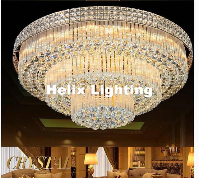Modern K9 Crystal Ceiling Lamp S Golden Light Bedroom Luminarias Home Decor Creative D80cm Led