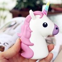 2000mAh Emoji Power Bank Unicorn Cartoon USB Powerbank For IPhone 6 7 8 X 5S External