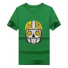 2017 Green Fashion Bay Packers sugar skull shirt mens 100% cotton T-shirt