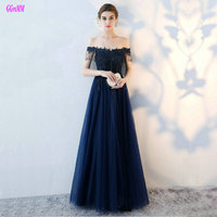 Glamorous Dark Navy Formal Dresses Long 2017 Sexy Evening Party Dress Sweetheart Tulle Appliques Beading Lace