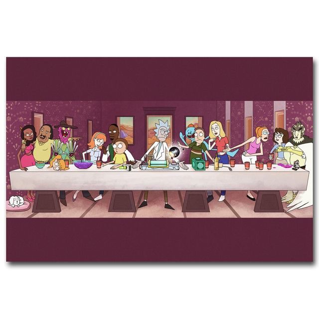 Rick and Morty Art Silk Poster Fabric Print 12×18 24×36 inches Anime Cartoon Funny Wall Picture Home Room Decoration