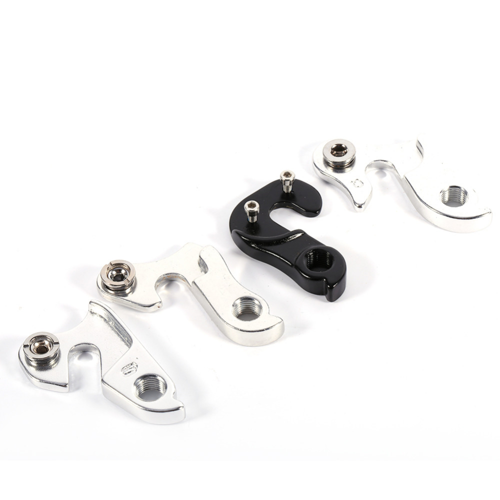 DIY Bike Bicycle Quality Front Derailleur Hanger 1 pc with 2 screws,Silver//Black