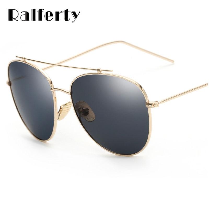 8a2ad4cbcf987 Ralferty Fashionable Metal Sunglasses Men Reflective Sports Sun Glasses  Women Outdoors Oversize Eyewear Mirror Gafas De Sol 2283