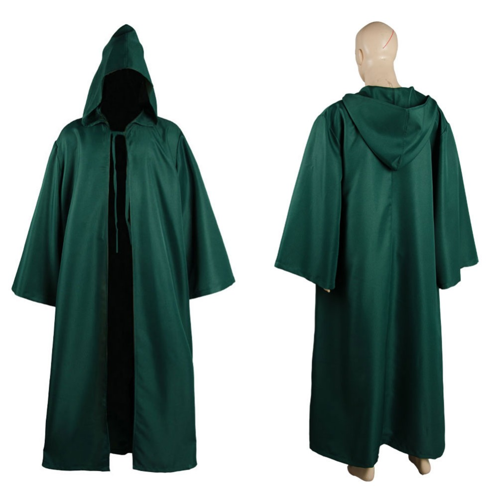 40c375dada New star wars jedi sith tunic hooded costume blue red white green jpg  1000x1000 Green monk
