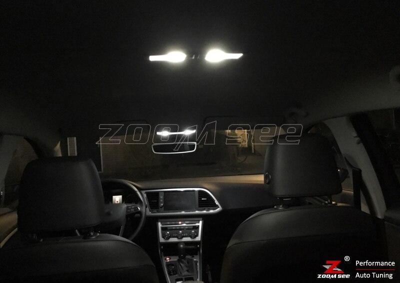 14 шт. X Canbus ОШИБОК светодио дный интерьер купола Рединг лампочка комплект для сиденья для Леон MK3 5F 5F1 5F5 5F8(2013