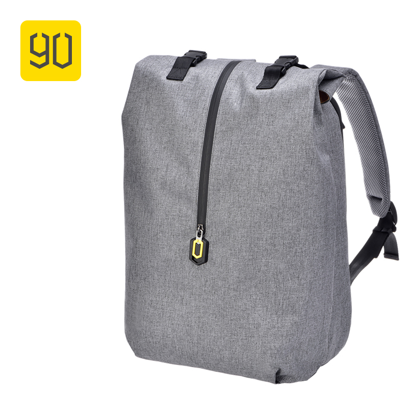 Xiaomi 90FUN Leisure Daypack Business Waterproof Backpack 14 Laptop Bag College School Travel Trip for Man & Woman, Grey xiaomi 90fun brand leisure daypack business waterproof backpack 14 laptop commute college school travel trip grey