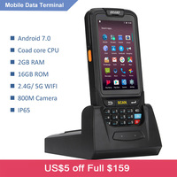 7 android 4 Android 7.0 Handheld pos terminal with NFC UHF RFID reader memory 4 inch large screen Data Terminal 1D,2D Laser Barcode Scanner (1)
