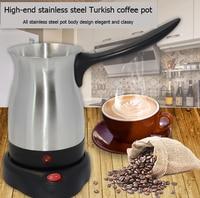 800 w 커피 머신 304 스테인레스 스틸 터키 커피 메이커 전기 커피 포트 커피 주전자 홈 오피스