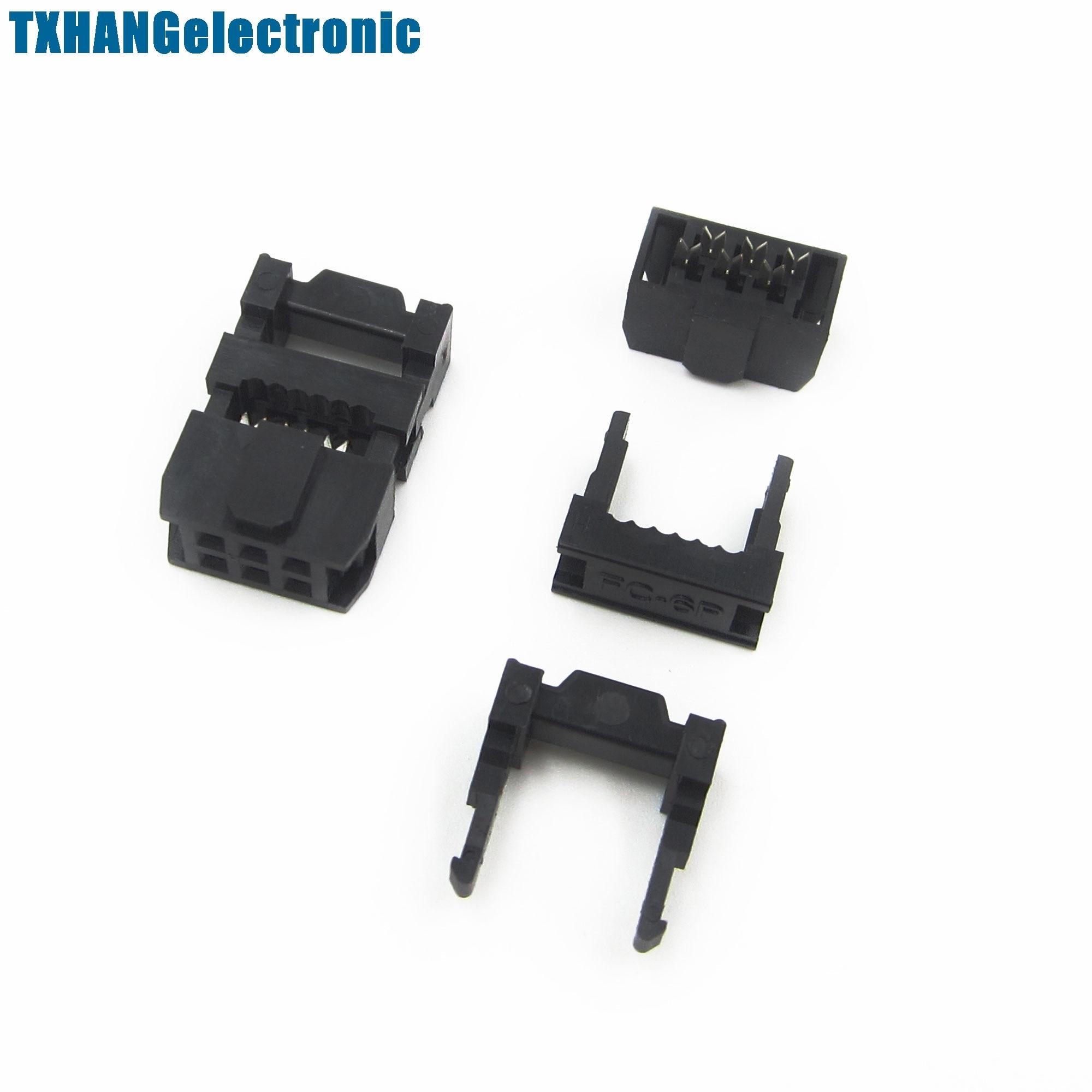 50PCS 2.54mm Pitch 6Pin FC-6P IDC FC Female Header Connector 3pcs//set