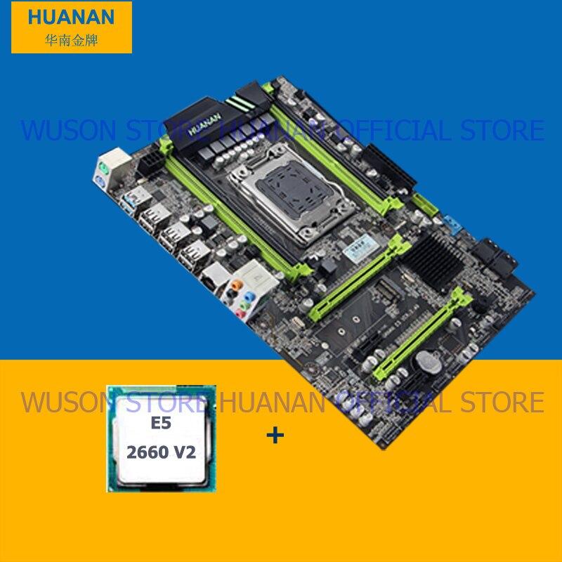 HUANAN V2.49 X79 motherboard CPU kit X79 LGA2011 motherboard CPU Xeon E5 2660 V2 (10 núcleos/20 tópicos) todos testados antes do envio