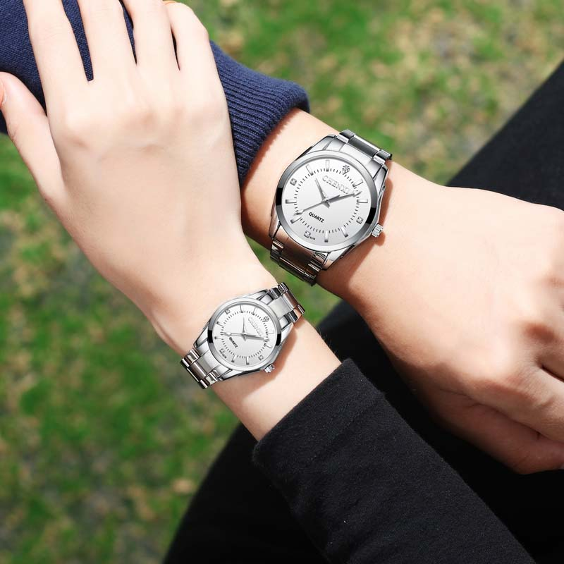 Couple Watch New Mens Watches Top Brand Luxury Quartz Watch Women Clock Ladies Dress Wristwatch Fashion Lovers Gift Watch 2019