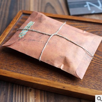 10Pcs/Lot Old Style Vintage Paper Envelope Brown Kraft Packaging For Retro Postcard Invitation Card Small Gift Letter 2205