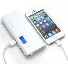 Doshin Dual USB 12000 mah LCD banco de la energía powerbank Portable 18650 cargador de batería externa para el teléfono móvil de copia de seguridad