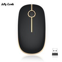 Shipped From Russian Jelly Comb Wireless Mouse Multi Color 1600 DPI Mute Mouse For Mac book
