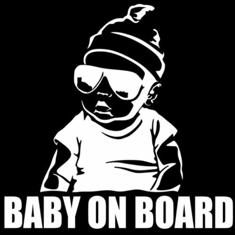 Image 2 - SLIVERYSEA BABY ON BOARD Creative Fashion Car Sticker Tail Warning Sign Decal-in Car Stickers from Automobiles & Motorcycles