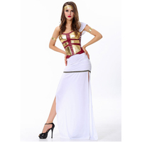 Halloween Costume for women Arabia white dress Greek goddess costume queen costumes sexy party dresses