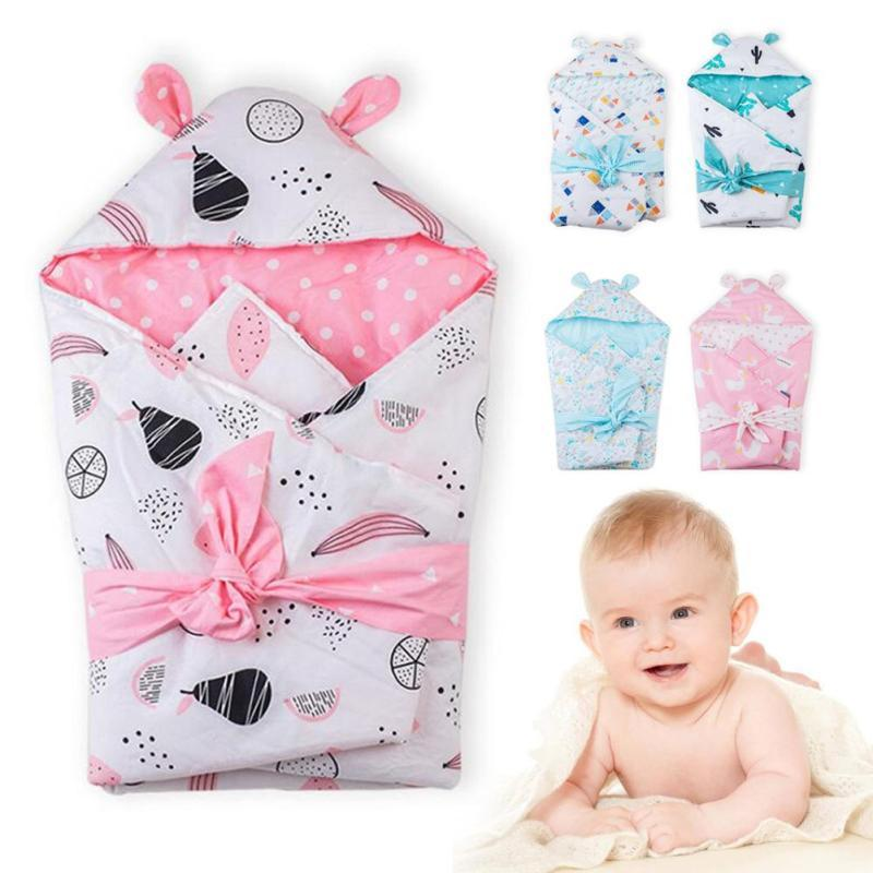 Envelope for newborns Swaddle 75*80cm infant Swaddling Blanket Swaddle Wrap Winter Cotton printed baby Sleeping Bag bedding D2 boy girl infant wrap envelop for newborns sleeping bag pure cotton printed with fawn patterns thicken in autum winter or sprin