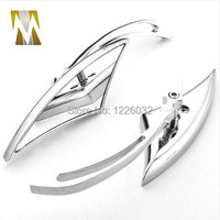 CHROME BLADE ALUMINUM CUSTOM MIRRORS FOR MOTORCYCLE CRUISER REARVIEW MIRROR