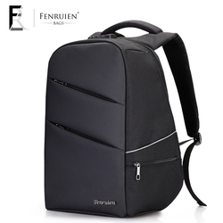 FRN 15.6 inch Laptop Backpack Male USB Charging Business Anti theft Backpack for Men Mochila Fashion Travel Backpack School Bag