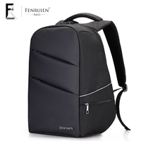 FRN Business Tripple Anti Theft Multifunction Backpack Bag Men PC Waterproof Polyester Rucksack 25L USb Charging