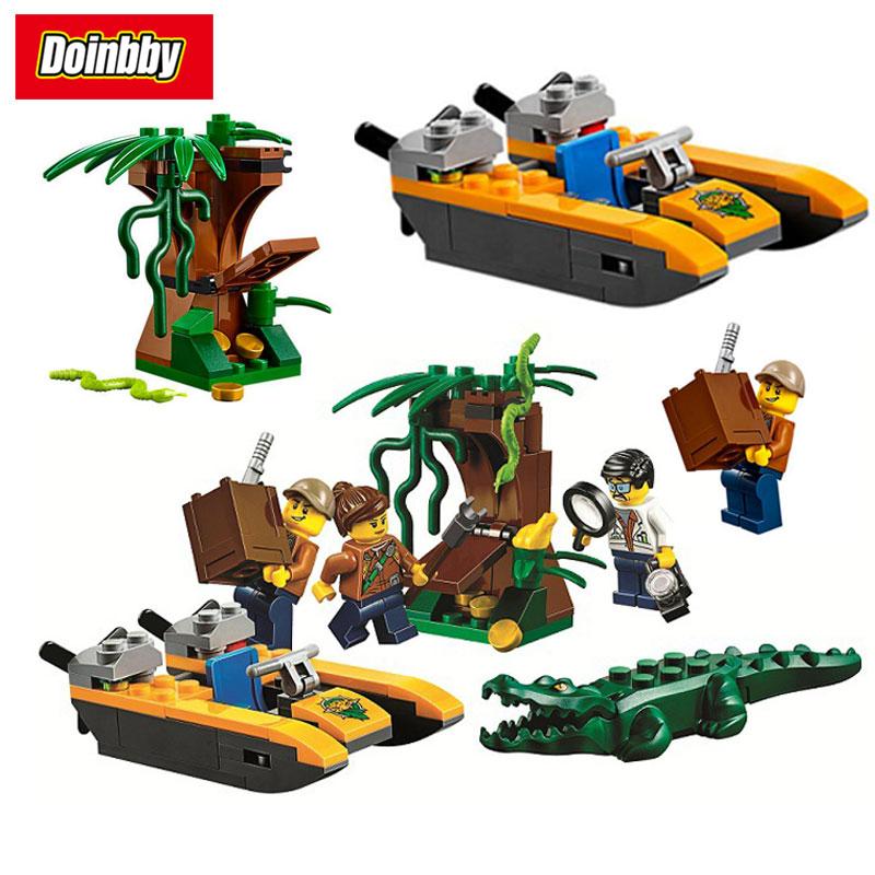 Bela 10708 City Jungle Starter Set 106Pcs Building Block Toys Compatible with Legoings Jungle Explorers