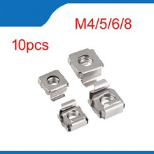 10Pcs M4 M5 M6 M8 Stainless Steel 304 Quartet Floating Nut Cassette Elastic Enclosure Card Cage Nuts Nickel