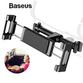 Baseus רכב מושב אחורי מחזיק משענת ראש עבור 4-12.9 אינץ iPad רכב טלפון מושב אחורי בעל הר עבור Pad Tablet מחשב אוטומטי משענת ראש מחזיק
